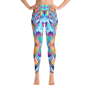 Tropical Night Forest Yoga Leggings