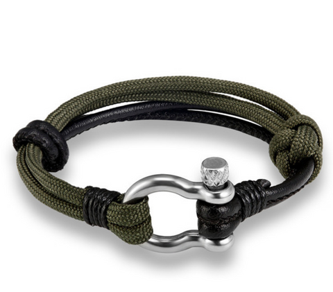 Green/Black Survival Bracelet