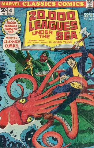 Marvel CLASSICS Comics # 4 , 20,000 LEAGUES UNDER The SEA