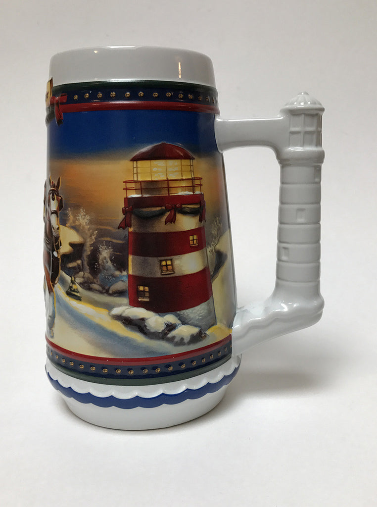 2002 Budweiser Holiday Stein Home for the Holidays