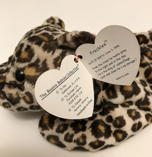 Ty Beanie Baby Freckles The Leopard 1996