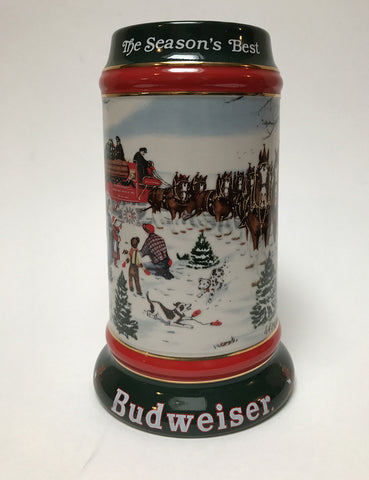 1991  Budweiser Holiday Stein Home for the Holidays