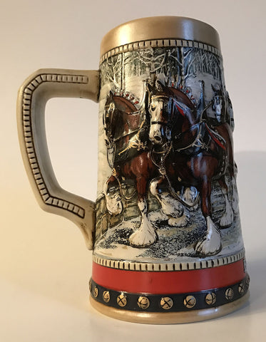 1988 Budweiser Holiday Stein Home for the Holidays