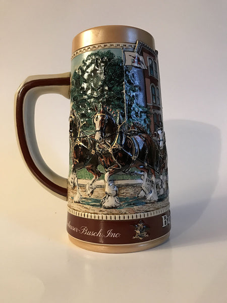 1988 Budweiser Beer Stein National Historical Landmark Series Old School House