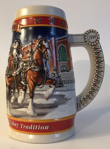1999  Budweiser Holiday Stein Home for the Holidays