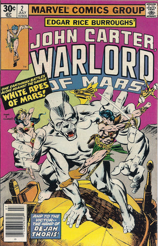 Marvel Comic John Carter Warlord Of Mars