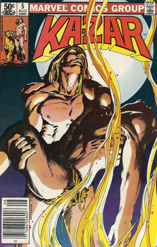 Marvel Comics Kazar The Savage  #5  aug 1981