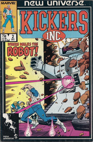 Marvel 1986 New Universe Kickers Inc The Robot Dec Vol 1