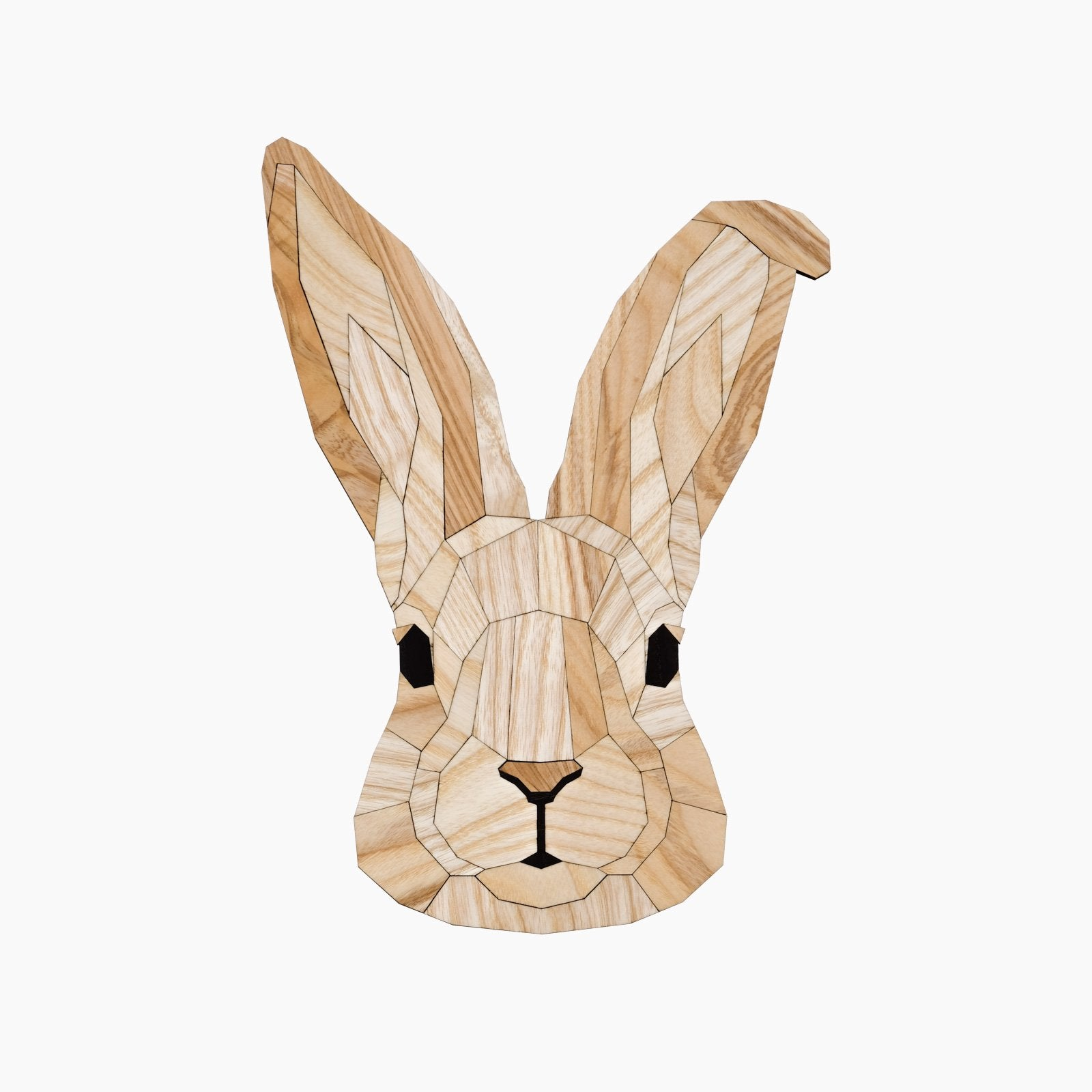 konijn rabbit hout wandkop dierenkop dier poly animal wood kopstuk