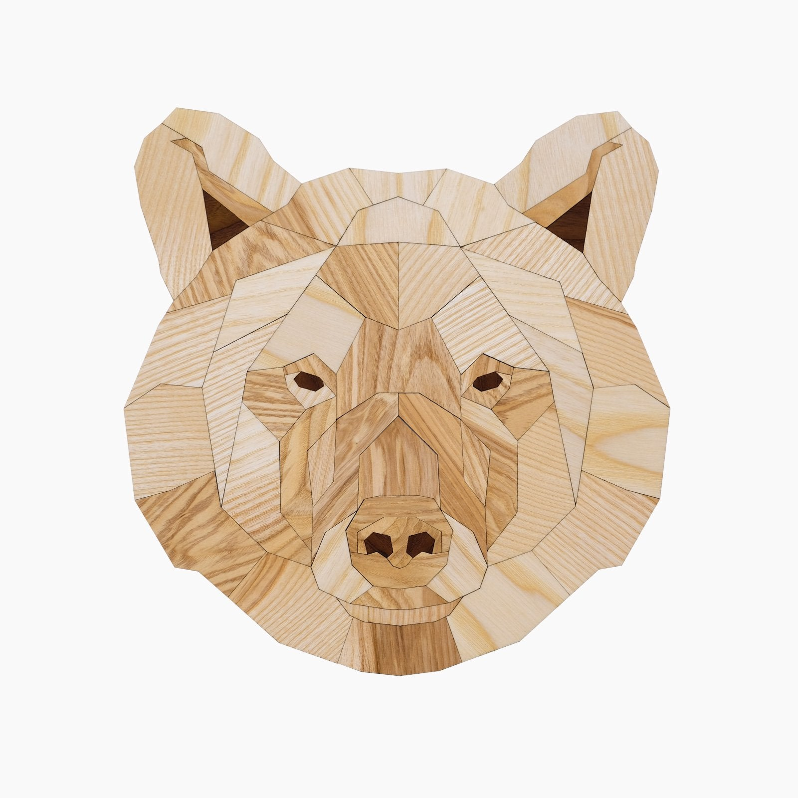 ours bear beer latete design animal dier wood hout