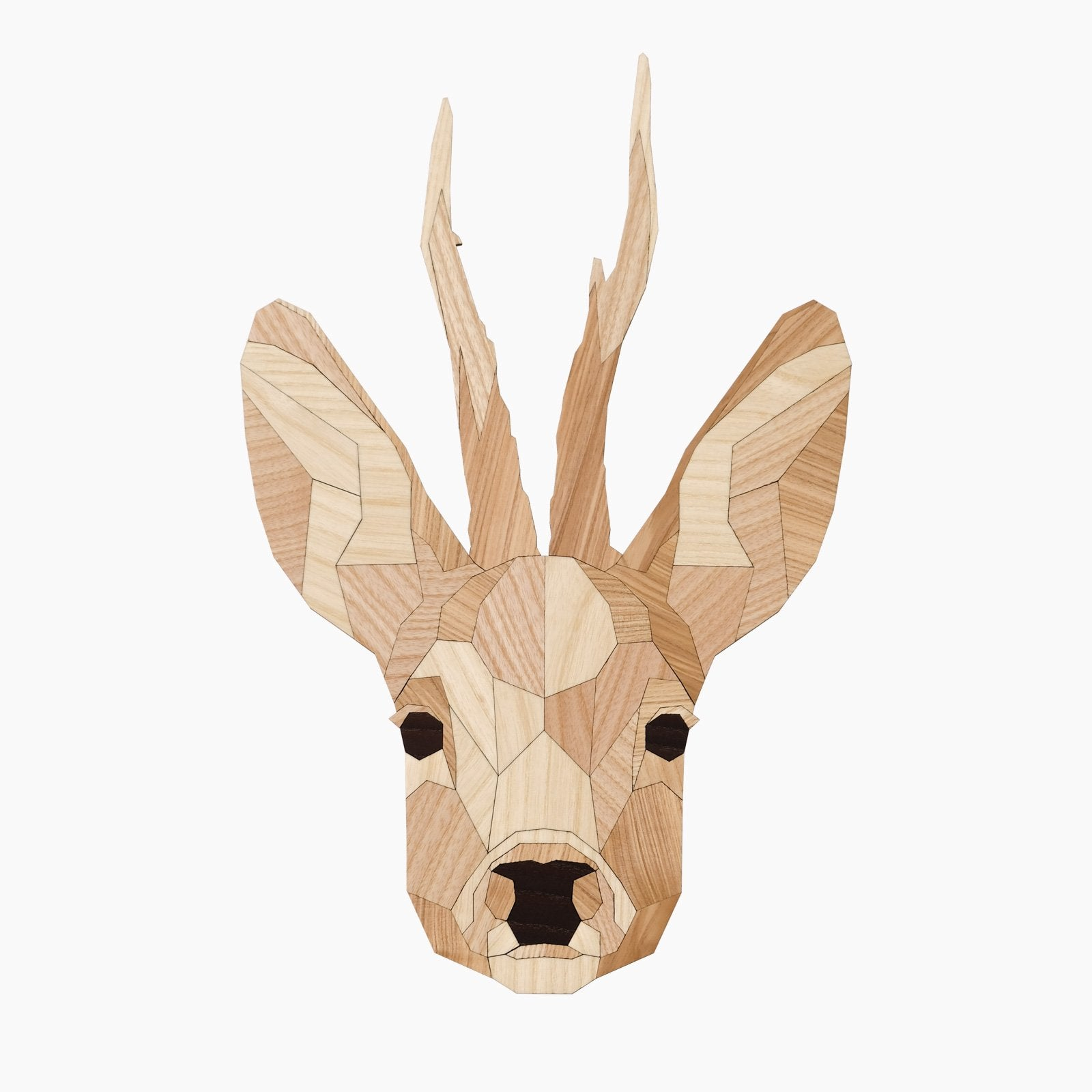 hert ree deer hout wandkop dierenkop dier poly animal wood