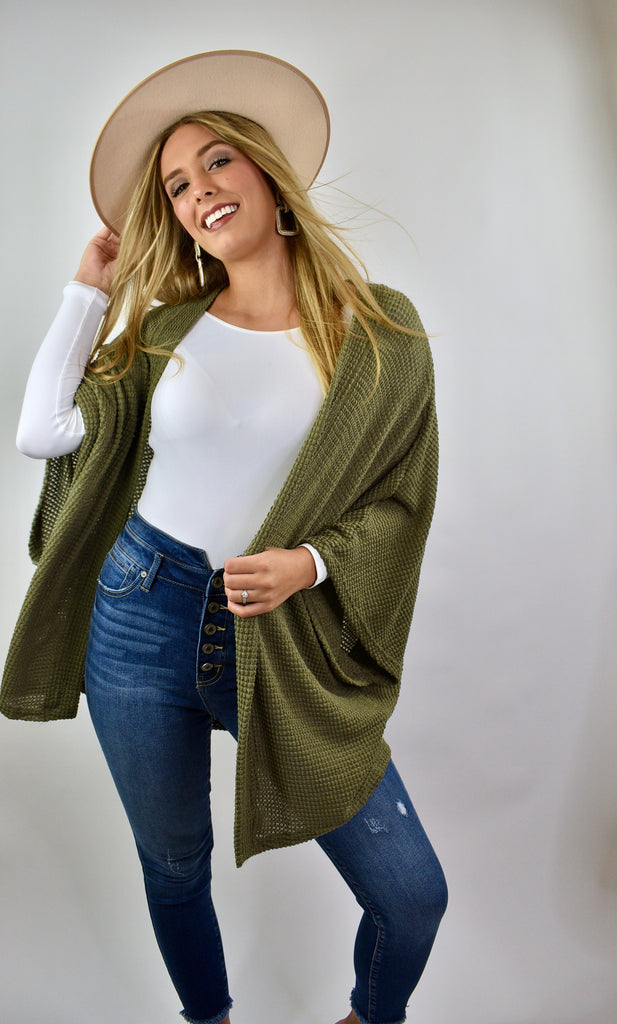 Reckless Love Cardigan, Olive