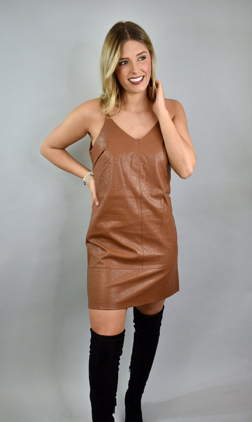You're The One Leather Dress, Camel