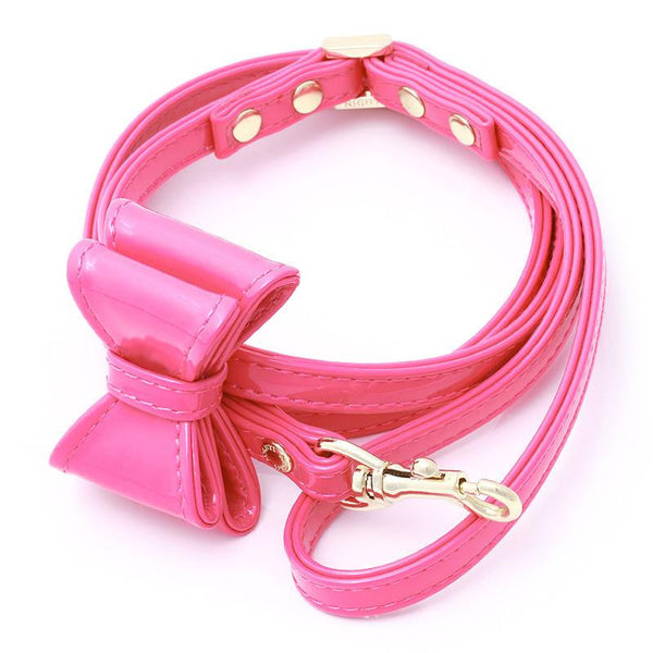 LEATHER DOG LEASH WITH BOW | DIVA