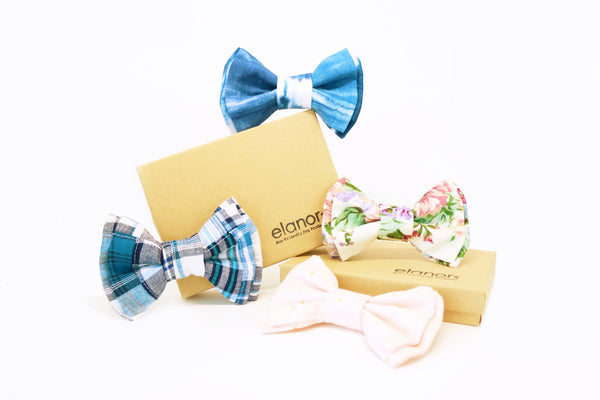 Elanor | Blue Watercolour Bow Tie