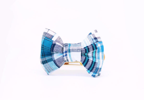 Elanor | Blue Plaid Bow Tie