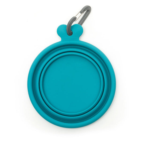 Collapsible Pet Travel Bowl - Blueberry
