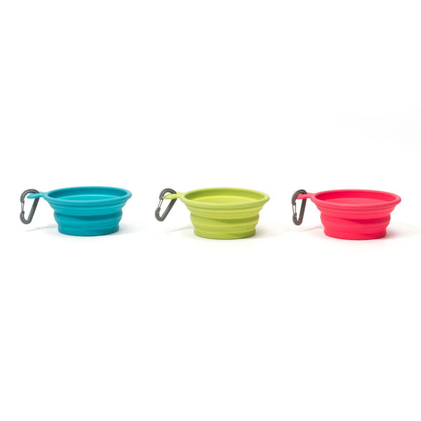 Collapsible Pet Travel Bowl - Watermelon