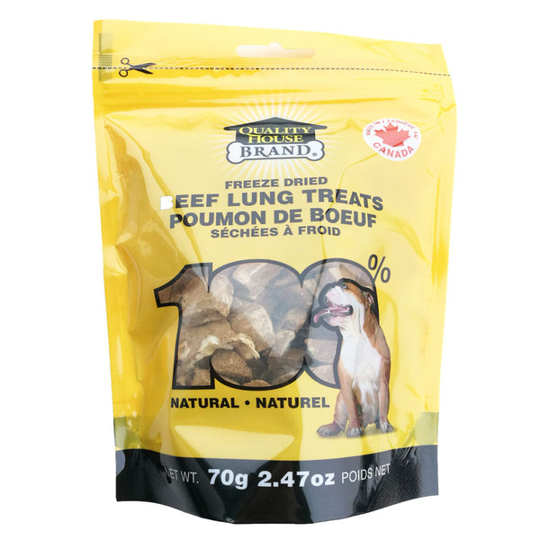 Quality House Brand | Freeze Dried Beef Lung Treats