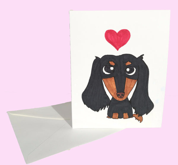 Dachshund Love Card