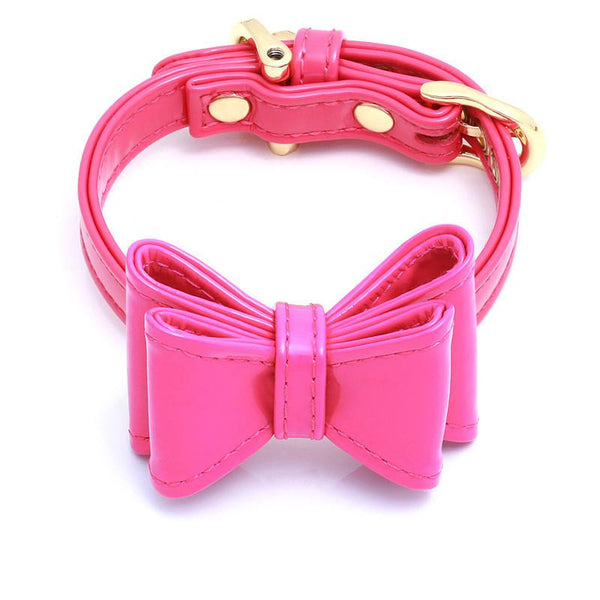 DOG COLLAR SET WITH BOW | DIVA
