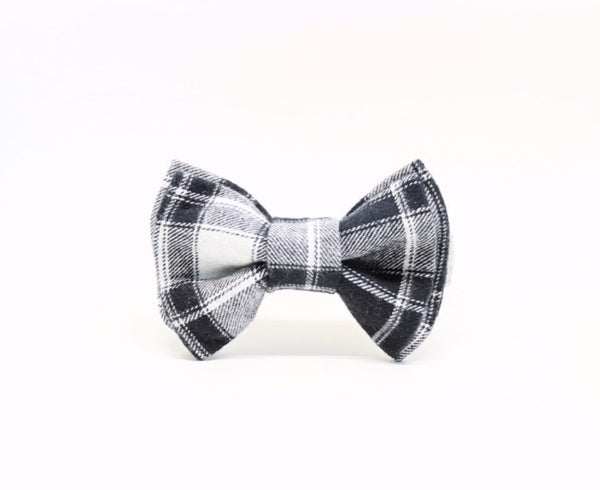 Elanor | Black Plaid Bow Tie