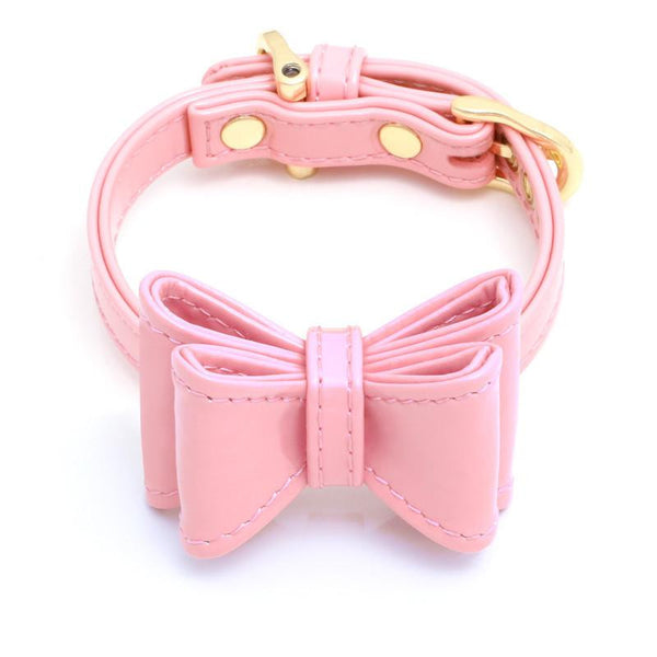 DOG COLLAR SET WITH BOW | BABY KISS