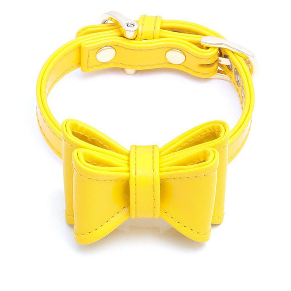 DOG COLLAR SET WITH BOW | LITTLE SUNSHINE
