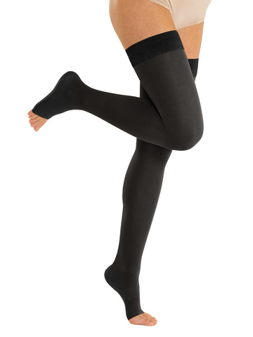 OPEN BOX: Classic Medical Compression Thigh High 34/46mmHg - Open Toe