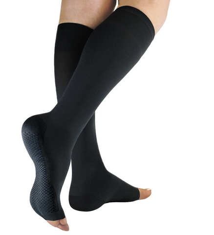 Solidea Relax medical open toe compression knee-high socks 20/30 mmHg for lymphedema, venous Insufficiency, DVT and recovery after surgery