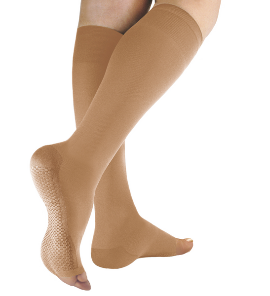 Traditional Compression Knee High Socks 25/32mmHg - Open Toe - Solidea Medical