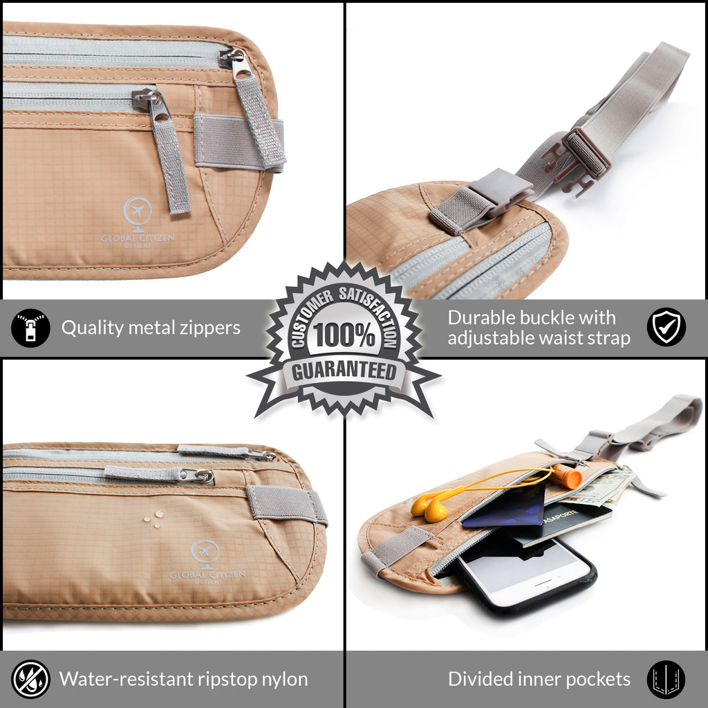 Beige Money Belt