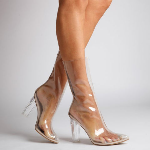 Perspex Clear Boots