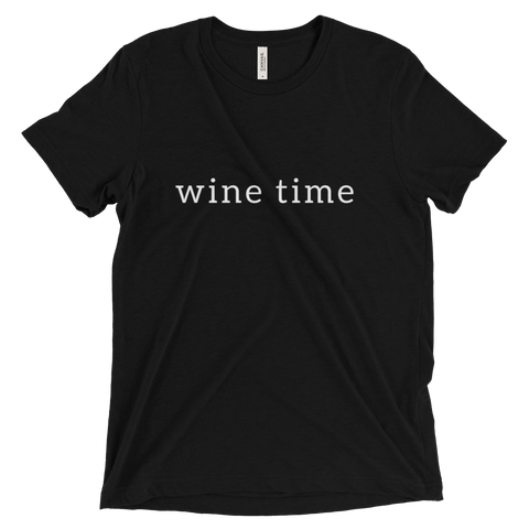 Wine Time Triblend T Shirt (Black) - Jac and Lane