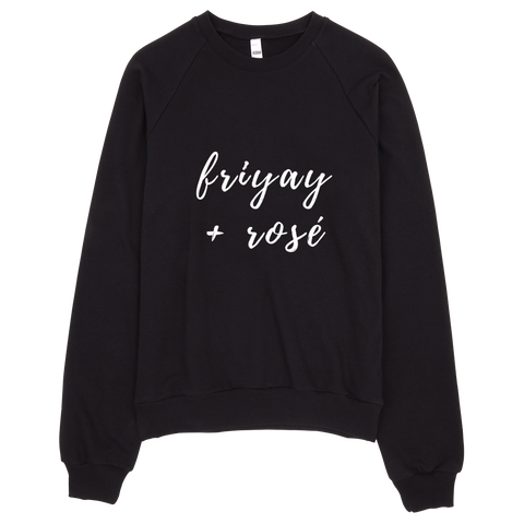 FriYAY + Rose Sweatshirt (Black) - Jac and Lane