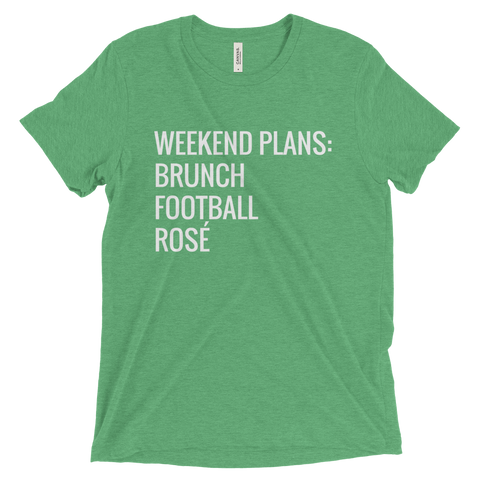 Weekend Plans Triblend T Shirt (Green) - Jac and Lane