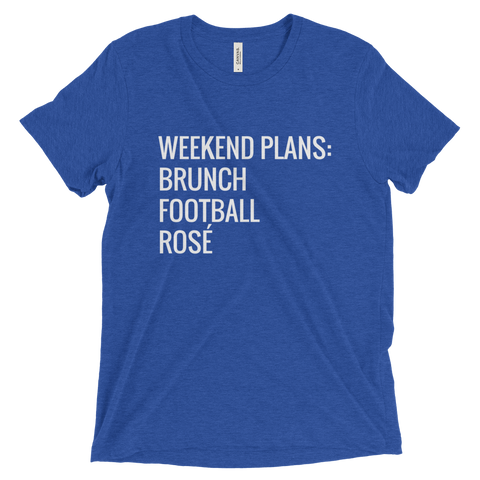 Weekend Plans T Shirt (Blue) - Jac and Lane