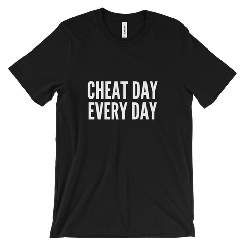 Cheat Day, Every Day T Shirt (Black) - Jac and Lane
