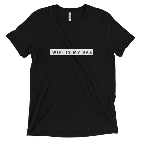 Wifi is my Bae Triblend T Shirt (Black) - Jac and Lane