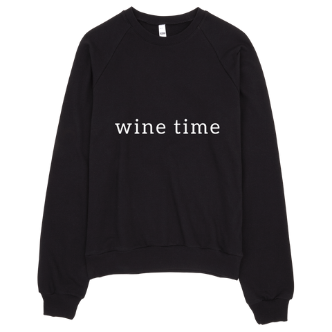 Wine Time Sweatshirt (Black) - Jac and Lane