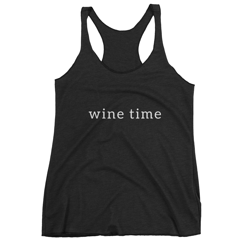 Wine Time Tank (Black) - Jac and Lane