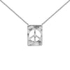 Peace Sign Diamond Plaque Necklace