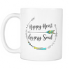 SALE!  Hippie/Hippy Heart & Gypsy Soul Coffee, Tea, Hot Chocolate Mug 11 OZ