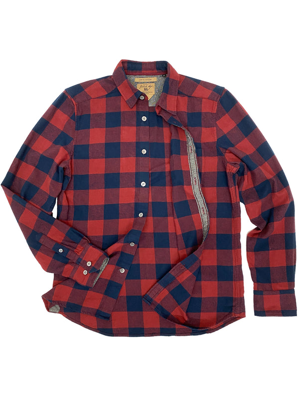 3001 Franklin Shirt Red Navy Check #2