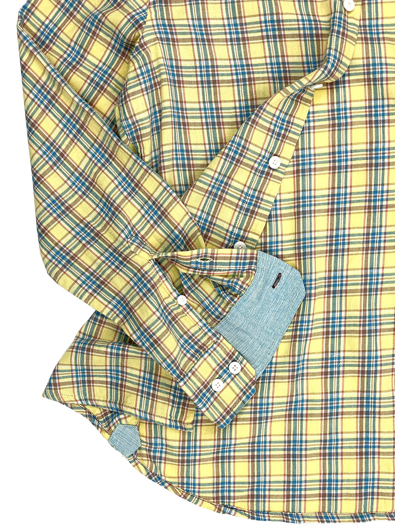 3001 Franklin Gold Plaid Light Cotton Twill Shirt