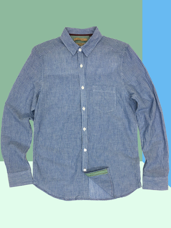 3001 Franklin Shirt Blue Shadow Stripe Lawn