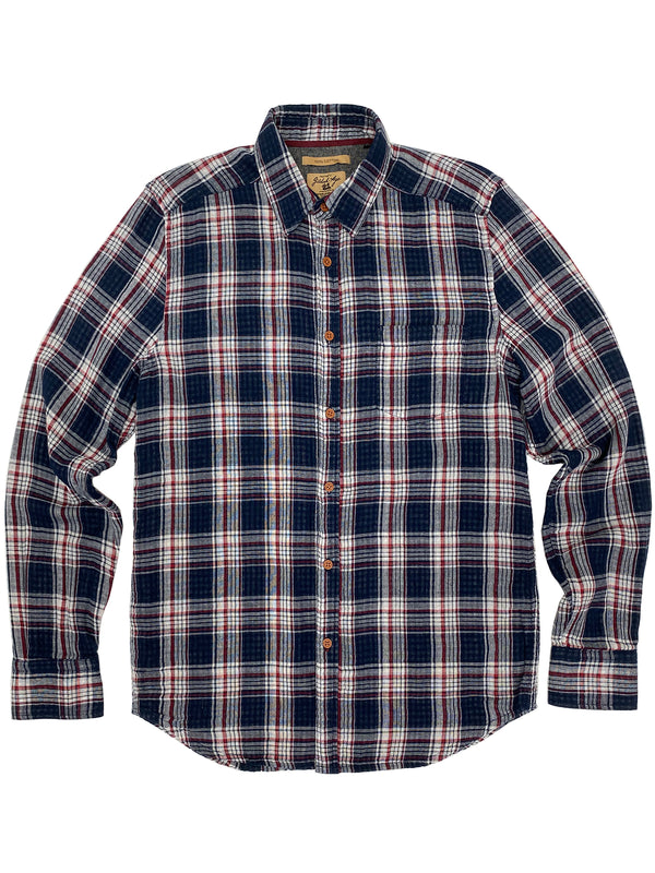 3001 Franklin Shirt Navy Red White Plaid