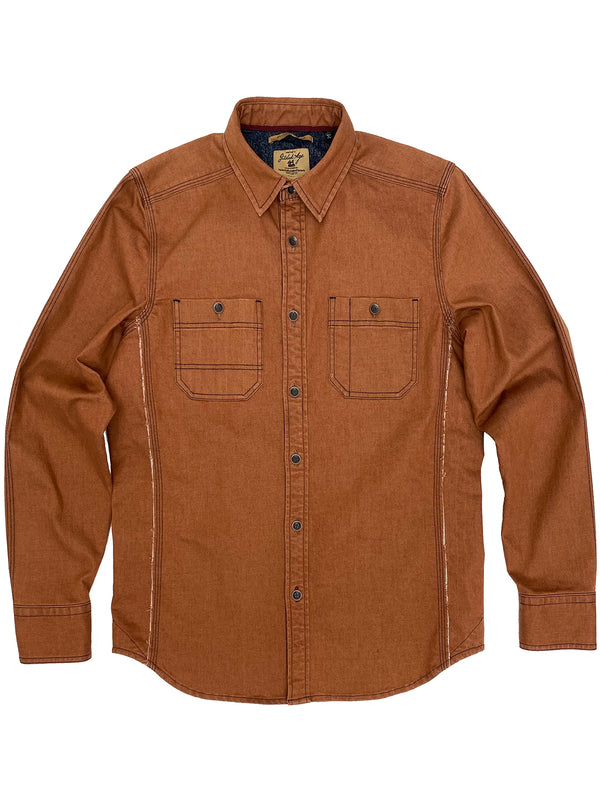 3009 Work Shirt Brick Red Denim Chambray