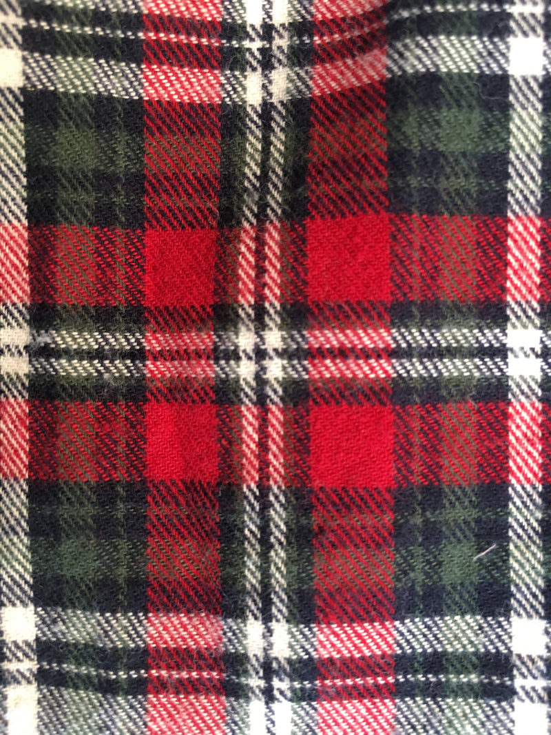 3009 Work Shirt Red Green Natural Flannel