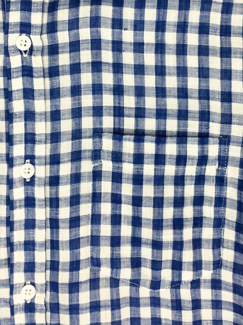 301 Gild Shirt Blue Check Double-face